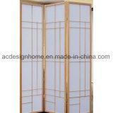 Schermo dello Shoji delle sezioni cinesi normali di stile giapponese 3 & divisori pieganti di legno