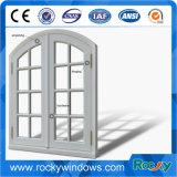 Цвет древесины арочных верхней части алюминия дверная рама перемещена французские окна
