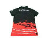 Chemise de polo de T-shirt du polo des hommes estampés par coutume pour les hommes