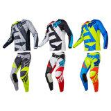 Weiße kundenspezifische Motocross-Jerseys-/Hosen-MX-Gang-Kleidung (AGS02)