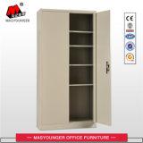 ベージュカラーオフィスの使用2の振動ドアのファイルストレージの金属ファイリング食器棚