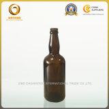 薄い首の卸売ガラス500mlブラウンのビール瓶(048)