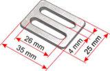 inarcamento della tessitura di 38mm - inarcamento della guida rettilinea