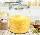 Moderno e elegante banheira vender Tamanho grande de vidro de alta capacidade de armazenamento dos alimentos Copo com tampa de vidro