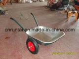 O dobro galvanizado da boa qualidade da bandeja roda o Wheelbarrow (Wb6407)