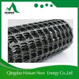 Пластмасса 80kn PP Geogrid Haisan однонаправленная используемое в сохраняя стене