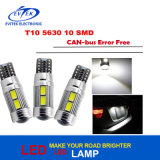 T10 10SMD 5630 W5w Lampe à LED Canbus Lampe à cale Car Side Automotive T10 5630 10SMD Ampoules LED