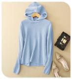 Pure Cashmere Hooded Sweater der Dame Pullover mit Halsausschnitt-langer Hülsen-Strickjacke für Herbst/Winter