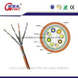 Le câble LAN Extérieur de gestion de réseau d'UTP Cat5e/CAT6 avec le flet a testé