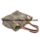 Borsa all'ingrosso del sacchetto di Tote della spalla della tela di canapa di modo del progettista