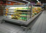 Индикация супермаркета холодильника низкой высоты коммерчески для продукции молокозавода