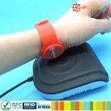 Várias cores à prova de SAP Smart MIFARE 4K Pulseira RFID para pagar sem numerário