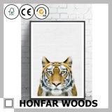 Peinture d'art de tigre d'art de mur avec le bâti en bois pour la décoration d'auberge