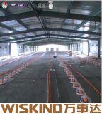 Elementos estruturais de aço prefabricados industriais acabados com viga de aço