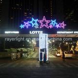 Decorazione variopinta di natale della stella della decorazione LED del partito di festa