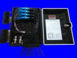 Cadre de distribution de fibre de faisceaux de la couleur 16 de noir de la pente IP65