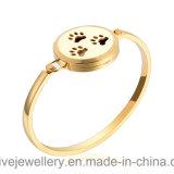 Gold-und Rosen-GoldEdelstahl-Aroma-Duftstoff-Armband