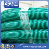 Boyau d'aspiration de l'eau de PVC renforcé par PVC de boyau flexible de qualité