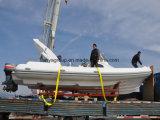 Do barco rígido da fibra de vidro da casca de Liya 27feet barco militar do reforço