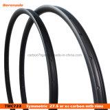 27mm ancho 23mm de profundidad Ud mate 100% de Toray T700 27.5 llantas de carbono MTB