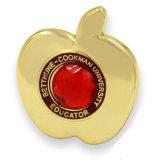 模造ダイヤモンドが付いている方法Appleの中心の形Pinのバッジ