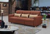 居間のソファーのためのブラウンCornorのソファーベッド