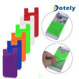 Zak van de Houder van de Creditcard van de Portefeuille van de Telefoon van het silicone de Mobiele Zelfklevende Sticker