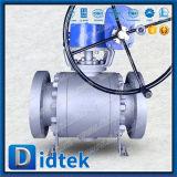 Didtek ANSI 종류 900 Rtj는 끝 A105 + Ni 60 공 및 시트 공 벨브 플랜지를 붙였다