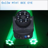 Minibewegliches Haupteffekt-Licht des bienen-Augen-6*15W LED