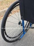 Rueda del rayo, sillón de ruedas económico, de acero