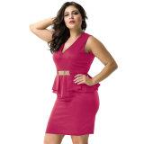 Фабрика в Stock низком MOQ плюс повелительницы Evening&#160 размера сексуальные; Платье