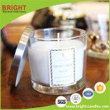 China de soja de lujo en fábrica de velas de cera perfumada con jarra de cristal personalizado