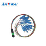 Cordon de connexion normal de fibre optique de FC de rue de Sc LC de cavalier de fibre du cordon de connexion de fibre optique MPO
