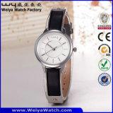Reloj de la mujer del cuarzo de la correa de cuero de la fábrica del servicio de encargo (Wy-103C)