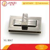 Alliage de zinc classique forme rectangulaire des sacs à main Twist serrure à combinaison