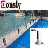 316/304 Frameless Pool-Zaun-Glaszapfen im rostfreien Balustrade-Edelstahl-Handlauf-Pool-Zaun-Glas-Zapfen des Balkon-316