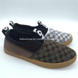 Высокое качество женщин Canvas обувь повседневная обувь ЭБУ системы впрыска для изготовителей оборудования (GJ1710-4)