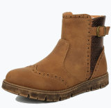 Enfant élégant de gaines de gosses de chaussures de filles d'enfants de Brown de puits de vente d'approvisionnement d'usine