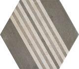 Azulejo de suelo de cerámica de 260*300m m del gris del cemento modelo geométrico del hexágono del vario