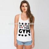 Comercio al por mayor camiseta de la mujer para la impresión de sublimación tejido camiseta personalizada
