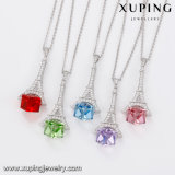 43828 nuevos Xuping ha diseñado la Torre Eiffel los cristales de Swarovski joyas Colgante Collar