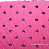 Material permeable al aire de la tela del neopreno con el orificio de aire