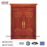 De houten BuitenVoordeur van de Ontwerpen van de Deur van de Deuren van de Ingang Houten Dubbele