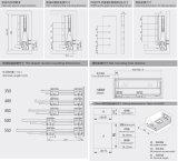가구 기계설비 부속품 부엌 서랍 Tendem 상자 서랍 활주