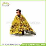 Устранимое термально серебряное непредвиденный одеяло спасения для держать теплым
