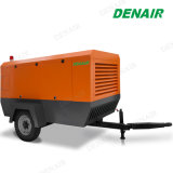 25.5m3/Min 900 Cfm DTHの訓練のためのディーゼル携帯用移動式ねじ空気圧縮機