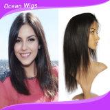 i capelli brasiliani del Virgin 7A, parrucca diritta del merletto 20inch, merlettano la parrucca anteriore