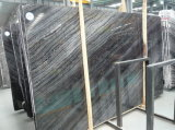 &Tiles de mármore de madeira pretos das lajes para a coberta da parede & de assoalho, antiguidade, madeira antiga, onda de prata, Rosewood Grain&Veins, floresta preta, mármore do preto do Mercury de China