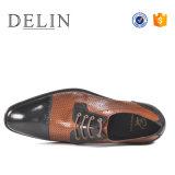 Mischungs-Farben-neue Entwurfs-Mann-Kuh-Leder-Form-Schuhe
