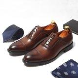 Tapa redonda convergencia Derby Mens Zapatos de Vestir en piel marrón.